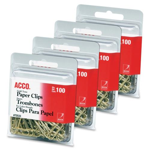Acco Gold Tone Paper Clips (72554)
