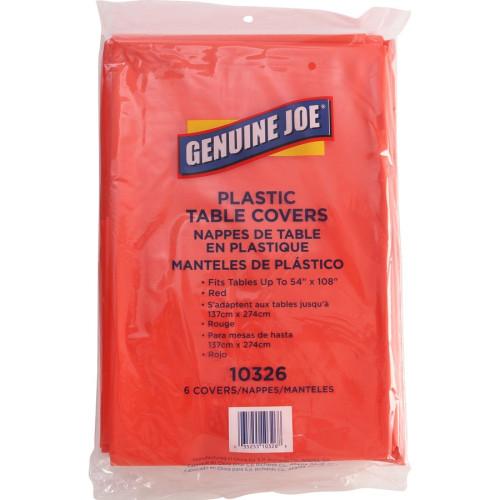 Genuine Joe Plastic Rectangular Table Covers (10326CT)