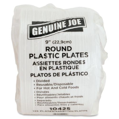 Genuine Joe 3-section Plastic Plates (10425CT)