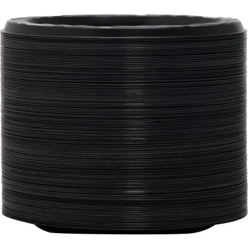 Genuine Joe Round Plastic Black Plates (10427CT)