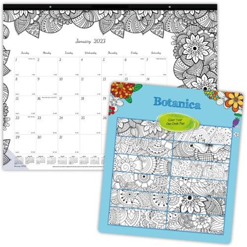 Rediform Blueline DoodlePlan Desk Pad - Botanica (C2917311)