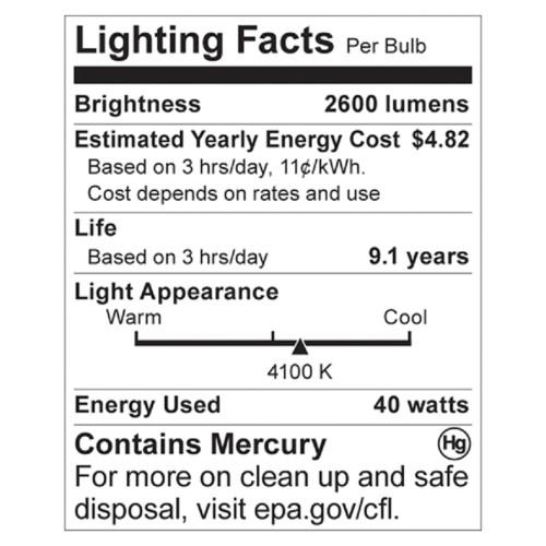Satco 40-watt T4 Spiral CFL Bulb (S7335CT)