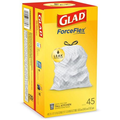 Glad ForceFlex Tall Kitchen Drawstring Trash Bags (78362CT)
