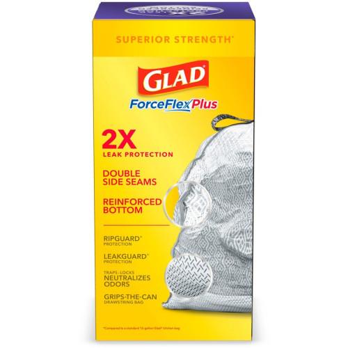 Glad ForceFlex Tall Kitchen Drawstring Trash Bags (78531CT)
