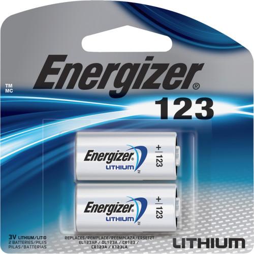 Energizer Lithium 123 3-Volt Battery (EL123APB2CT)