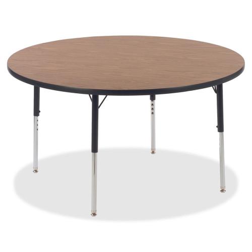 Lorell Medium Oak Laminate Round Activity Tabletop (99897)