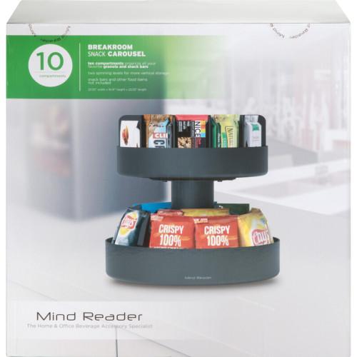 Mind Reader EMS Mind Supreme Lazy Suzan (SNACKCARBLK)