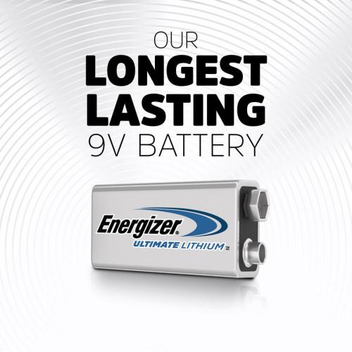 Energizer Ultimate Lithium 9V Batteries, 2 Pack (L522BP2)