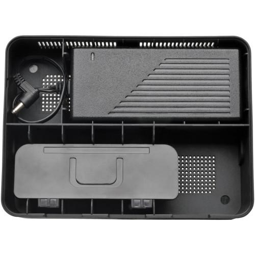 Tripp Lite Desktop Charging Station with Cable Storage, 5 Devices, 6.6w x 4.9d x 0.79h, Black (U280005ST)