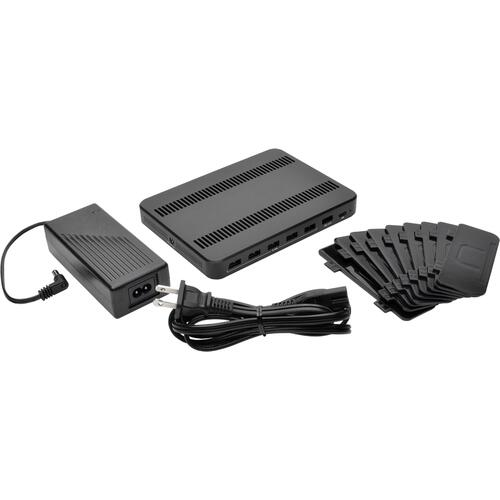 Tripp Lite USB Charging Station with Quick Charge 3.0, Holds 7 Devices, Black (U280007CQCST)