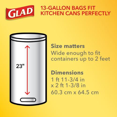 Glad ForceFlex Tall Kitchen Drawstring Trash Bags (78564)