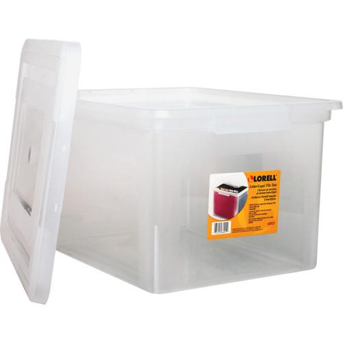 Lorell Letter/Legal Plastic File Box (68925BD)