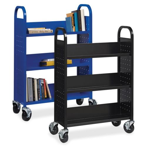 Lorell Single-sided Steel Book Cart (99933)