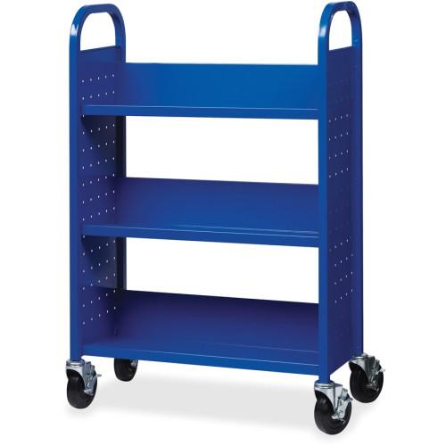 Lorell Single-sided Steel Book Cart (99934)