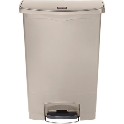 Rubbermaid Slim Jim Resin Step-On Container, Front Step Style, 24 gal, Beige (1883552)