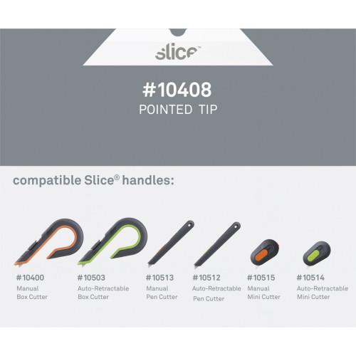 slice Pointed Tip Ceramic Cutter Blades (10408)