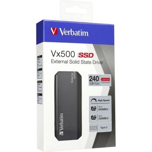 Verbatim 240GB Vx500 External SSD, USB 3.1 Gen 2 - Graphite (47442)