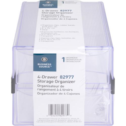 Business Source 4-drawer Storage Organizer (82977)