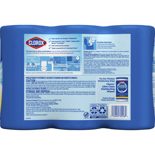 Clorox Disinfecting Wipes Value Pack, Bleach-Free Cleaning Wipes (30208CT)