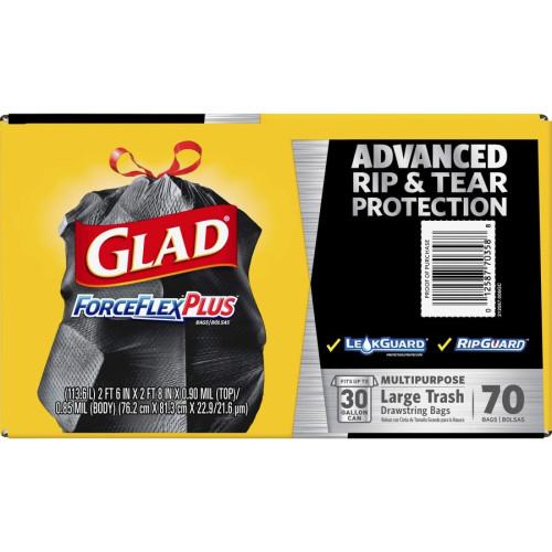 Glad ForceFlexPlus Drawstring Large Trash Bags (70358BD)