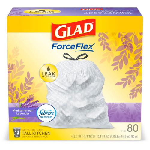 Glad ForceFlex Tall Kitchen Drawstring Trash Bags (78902BD)