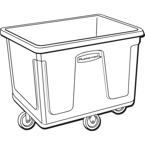 Rubbermaid Commercial 20 cu ft Cube Truck (461900BK)
