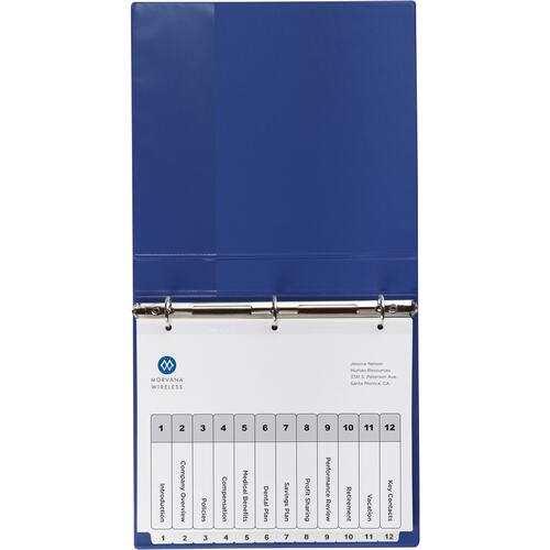 Avery Avery Ready Index 12 Tab Dividers, Customizable TOC, 6 Sets (11824)