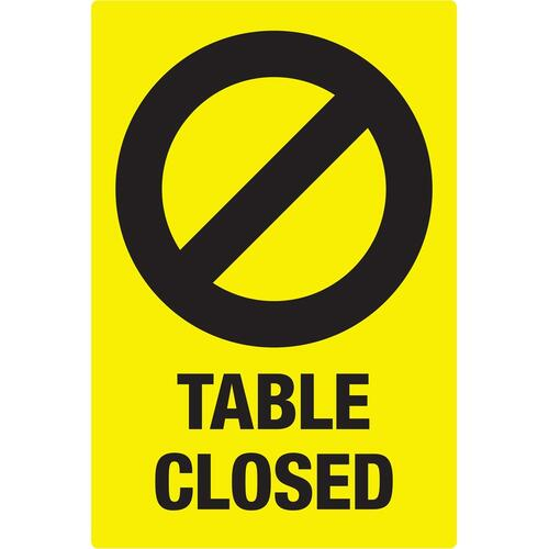 Avery Surface Safe TABLE CLOSED Preprinted Decals (83075)