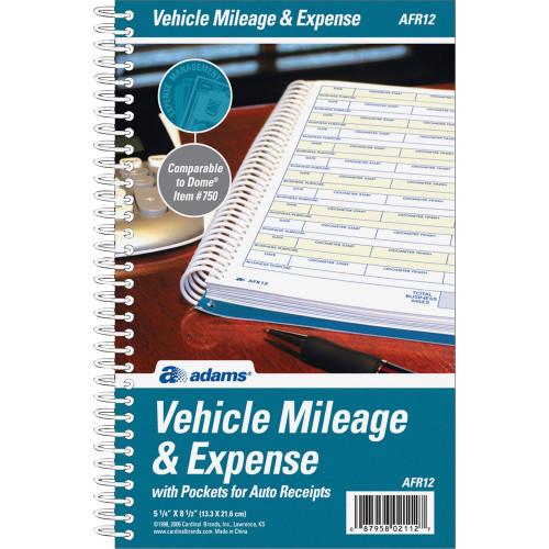 Adams Manufacturing Manufacturing Manufacturing Adams Manufacturing Manufacturing Vehicle Mileage/Expense Journal Pocket (AFR12)
