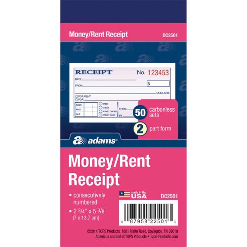 Adams Manufacturing Manufacturing Manufacturing Adams Manufacturing Manufacturing Money/rent Receipt Books (DC2501)