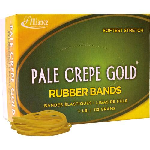 Alliance Rubber 20169 Pale Crepe Gold Rubber Bands - Size #16