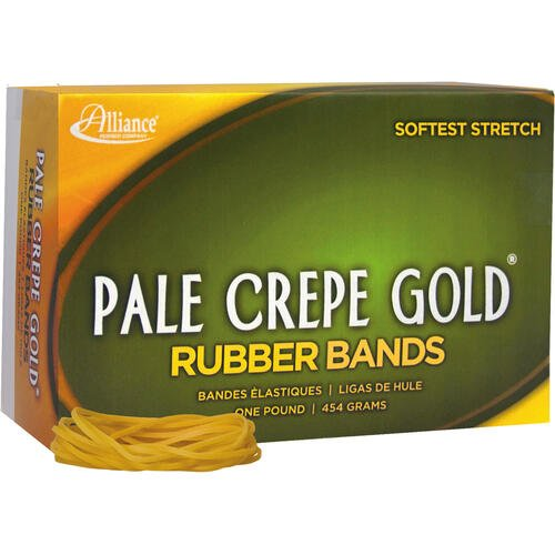 Alliance Rubber 20185 Pale Crepe Gold Rubber Bands - Size #18