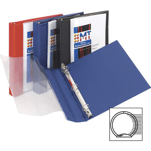 Avery See-Thru View Binder with Round Rings, 3 Rings, 0.5