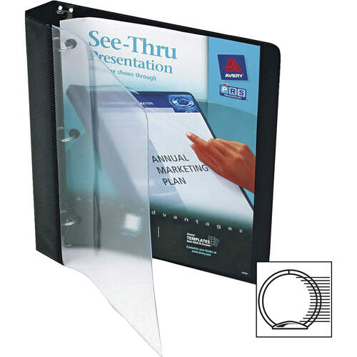 Avery See-Thru View Binder with Round Rings, 3 Rings, 1
