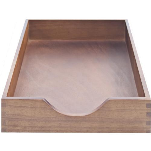 Carver Walnut Finish Solid Wood Desk Trays (CW07212)