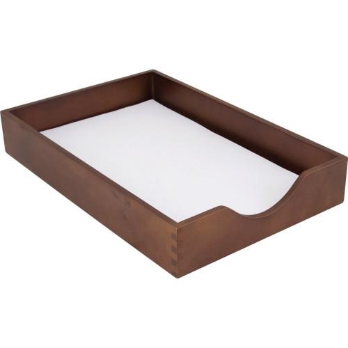 Carver Walnut Finish Solid Wood Desk Trays (CW07222)