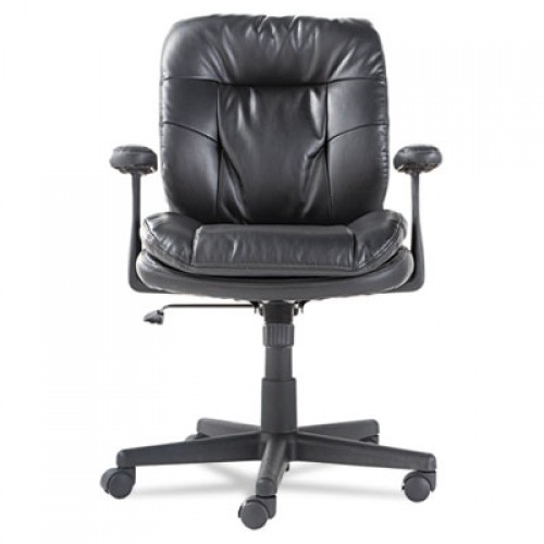 OIF Executive Bonded Leather Swivel/Tilt Chair, Supports up to 250 lbs, Black Seat/Back/Base (ST4819)