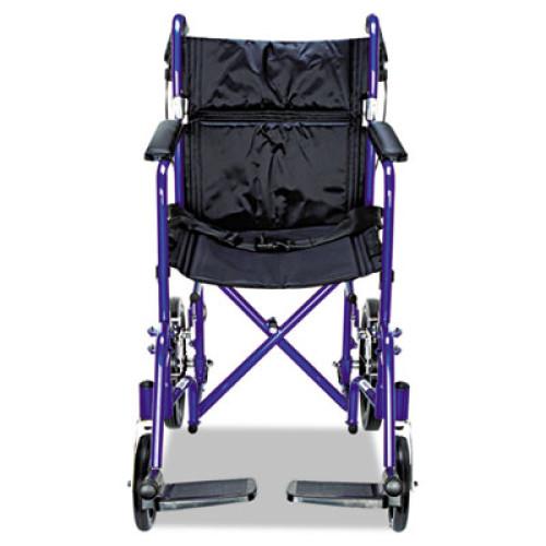 Medline Excel Deluxe Aluminum Transport Wheelchair 19w X