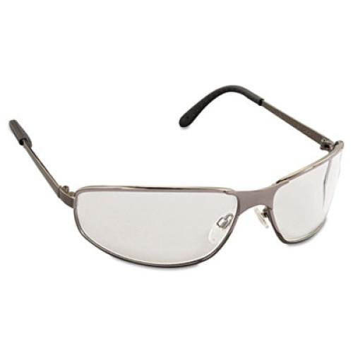 Uvex Tomcat Safety Glasses, Gun Metal Frame, Clear Lens (S2450)