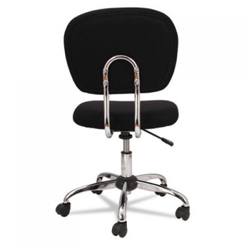 OIF Mesh Task Chair, Supports up to 250 lbs., Black Seat/Black Back, Chrome Base (MM4917)