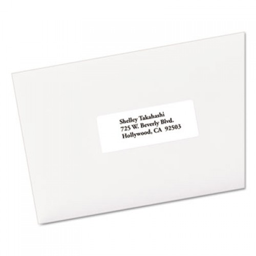 Avery EcoFriendly Mailing Labels, Inkjet/Laser Printers, 1 x 2.63, White, 30/Sheet, 250 Sheets/Box (48960)