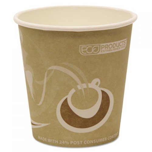 Eco-Products Evolution World 24% Recycled Content Hot Cups - 10oz., 50/PK, 20 PK/CT (EPBRHC10EW)