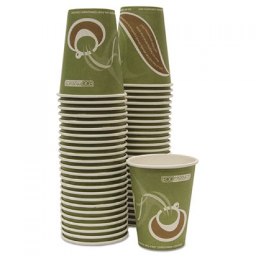 Eco-Products Evolution World 24% Recycled Content Hot Cups Convenience Pack - 12oz., 50/PK (EPBRHC12EWPK)