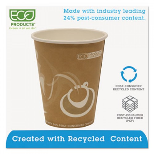 Eco-Products Evolution World 24% Recycled Content Hot Cups - 8oz., 50/PK, 20 PK/CT (EPBRHC8EW)