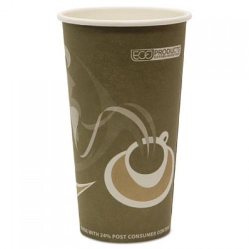 Eco-Products Evolution World 24% Recycled Content Hot Cups - 20oz., 50/PK, 20 PK/CT (EPBRHC20EW)