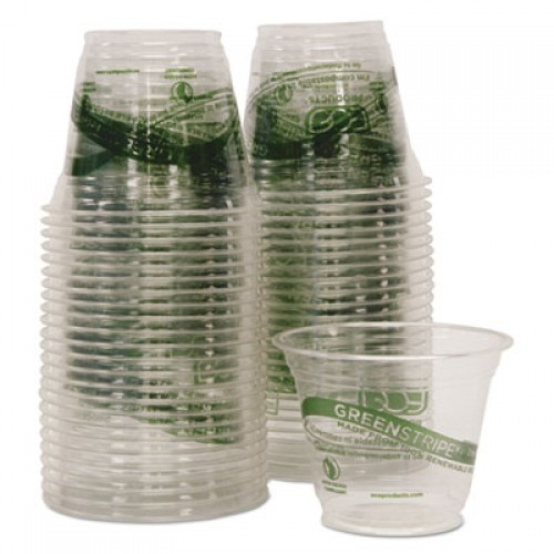 Eco-Products GreenStripe Renewable & Compostable Cold Cups Convenience Pack- 9oz., 50/PK (EPCC9SGSPK)