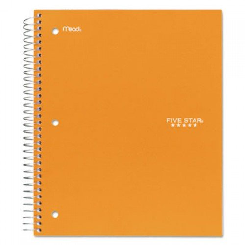 Five Star Trend Wirebound Notebook, 1 Subject, Medium/College Rule, Assorted Color Covers, 11 x 8.5, 100 Sheets (06044)