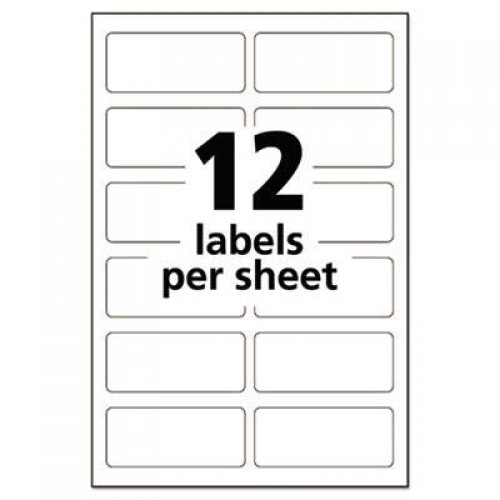Avery Durable Permanent Multi-Surface ID Labels, Inkjet/Laser Printers, 0.75 x 1.75, White, 12/Sheet, 10 Sheets/Pack (61521)