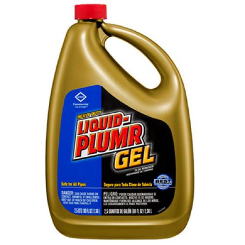 Liquid Plumr Heavy-Duty Clog Remover, Gel, 80oz Bottle, 6/Carton (35286CT)
