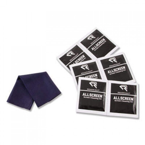 Read Right AllScreen Screen Cleaning Kit, 50 Wipes, 1 Microfiber Cloth (RR15039)